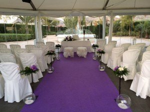 Celebración civil de boda en carpa, Salón Juanjo, Petrer(Alicante)