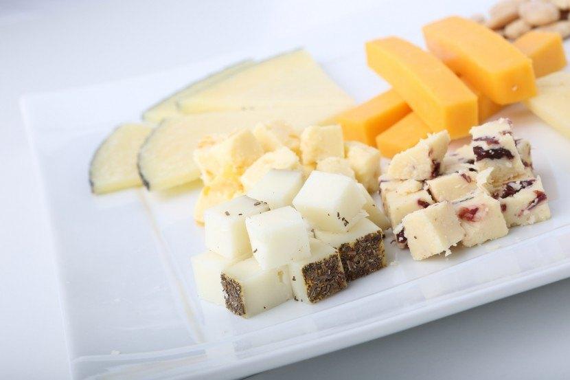 Tabla quesos para menú de boda