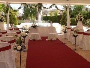 Celebración boda civil en carpa con fuente, Petrer(Alicante)