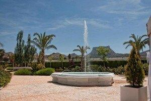 Jardín para celebracones de bodas civiles en Petrer(Alicante)
