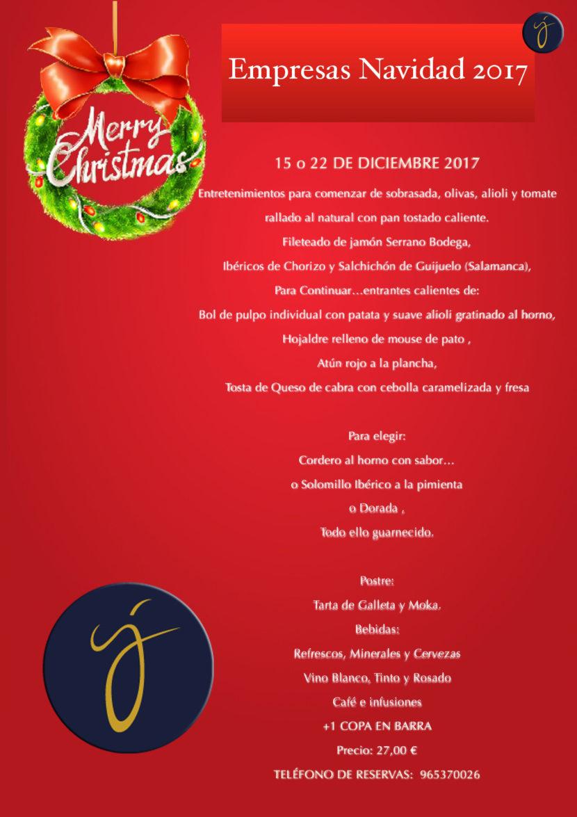 Cena empresa Navidad 2017 Elda-Petrer Salón Juanjo